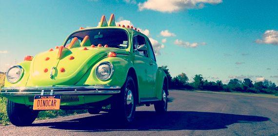 Зеленый Фольксваген жук